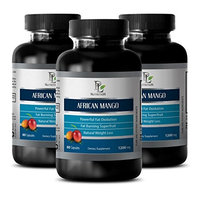 African mango green tea - AFRICAN MANGO EXTRACT - Promotes good mood & reduces stress - 3 Bottles 180 capsules