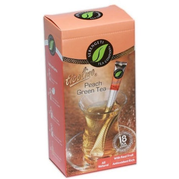 Serengeti Tea Peach Green Tea Box with 18 Tea Sticks [Peach Green]