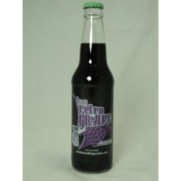 Retro Soda Sweetened with Pure Cane Sugar 12oz Glass Bottles (Pack of 24) (Dublin Retro Grape Soda)