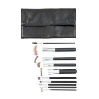 Crown Brush - 10-Piece Black Syntho Brush Set with Case - Set 516
