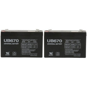 6v 7000 mAh UPS Battery for Battery-Biz B662 - 2 Pack
