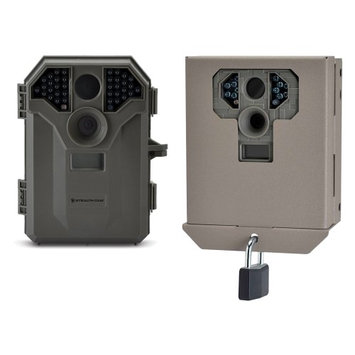 Stealth Cam 8MP No Glo Infrared Game Trail Camera with Video and Security Case