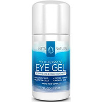 Eye Gel Cream - Wrinkle, Dark Circle, Fine Line & Redness Reducer - Pure & Organic Anti Aging Blend for Men & Women with Hyaluronic Acid - Fight Bags & Lift Skin Under Eyes - InstaNatural - 1.7 oz