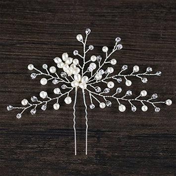 SprinZ Bride Hairpins Rhinestone Pearl Women Jewelry Headwear Hair Accessories Wedding