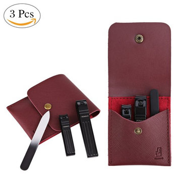 Professional Nail Clippers,Manicure Set Men, Portable 3 Pieces, Suitable For Travel, Business Trip, Small Size, Large Role. By Ronavo
