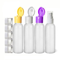 Moyo Natural Labs 9 Piece 2 Oz Premium HDPE travel bottle set and Travel Jars with Fine Mist Spray Bottle BPA Free Travel size bottle TSA Approved 2 oz travel Bottle Pack of 9 travel accessories