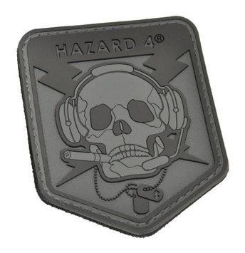Civilian Lab Hazard 4 Custom Special Operations Skull Rubber 3D Patch, Black/Grey- PAT-OPSK-BLK