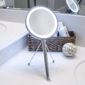 Pure Enrichment LED Lighted Double Sided Makeup Vanity Mirror with Adjustable Stand