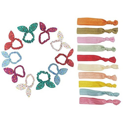 BeautyN 20 Pcs Hair Ties Elastics Ponytail Holders Hair Bands Scrunchies Accessories for Women Girls and Kids