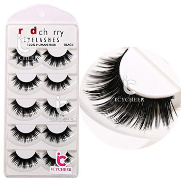 Very Thick 5Pairs Handmade Voluminous False Eyelashes Makeup Long Eye Lashes Set