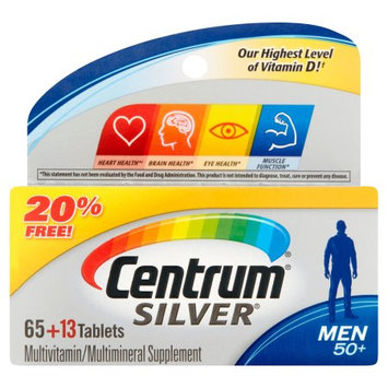 Pfizer Centrum Silver Men 50+ Tablets, 78 count