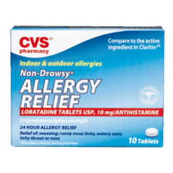 CVS Health Allergy Relief Loratadine Tablets 24 Hour Non-Drowsy, 10 CT