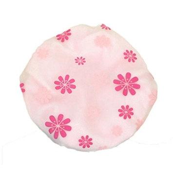Bluelans Shower Cap Elastic Waterproof Bath Cap Bathing Hair Drying Cap Lady Salon Hat - Pink
