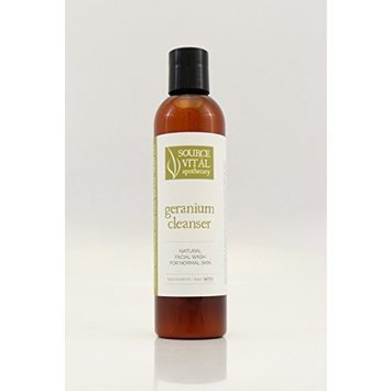 Source Vitál Apothecary | Geranium Face Cleanser | All-Natural Facial Wash for Normal Skin | 8.39 oz.