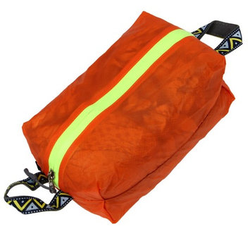 THZY Outdoor travel ultra-light waterproof shoes bag portable Tu silicon nylon clothing bag bag bag color: Orange Size: S
