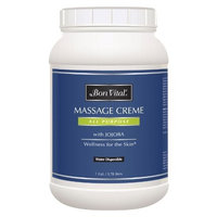Bon Vital' All Purpose Massage Creme for Massage Therapists & At-Home Massages, Dual Use Massage Cream for Deep Tissue to High Glide Techniques, Improves Skin Tone & Texture, 1 Gallon Jar [All Purpose]