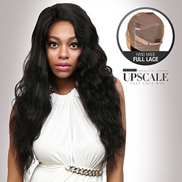 UpScale 100% Virgin Glueless Remi Human Hair Hand Made Unprocessed Brazilian Human Hair Full Lace Wig Body Wave 150% Density NATURAL Color 24