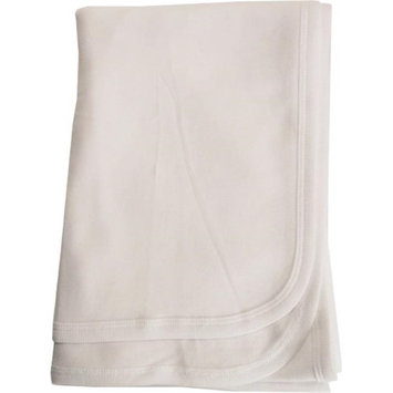 Bambini 3200W White Interlock Receiving Blanket