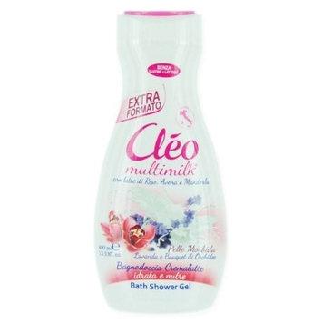 Cleo Multimilk Bath Shower Gel Soft - Lavender & Orchids 400ml 13.5oz