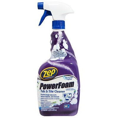 ZEP Bathroom Cleaning Supplies 32 oz. Power Foam Tub and Tile Cleaner (Case of 12) ZUPFTT32