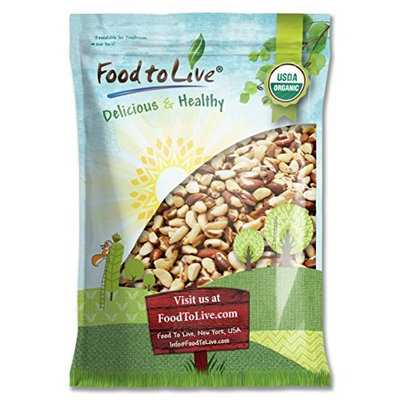 Food To Live ® Organic Brazil Nuts (Raw, No Shell) (12 Pounds)