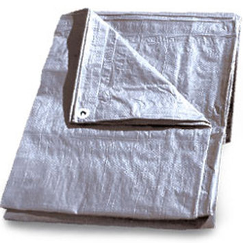 Continental Western Corporation CWC Heavy-Duty Tarp - 10' x 10', Silver (Pack of 10 rolls)
