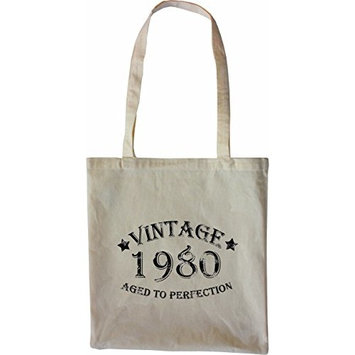 Mister Merchandise Tote Bag Vintage 1980 - Aged to Perfection 35 36 Shopper Shopping , Color [Nature]