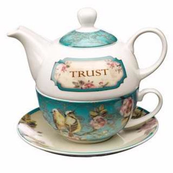 Tea Set-Tea For One/Trust w/Gift Box