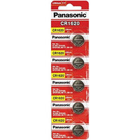 Panasonic CR1620 3 Volt Lithium Coin Battery (5 Batteries)