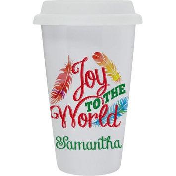 Monogram Online Custom Christmas Gifts Joy To The World Eco Tumbler Mug