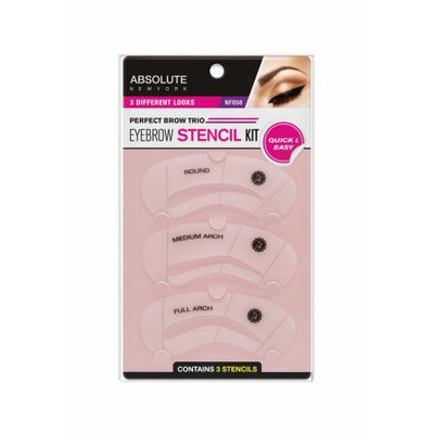 Absolute New York Eye Brow Stencil Kit, 3 Ct