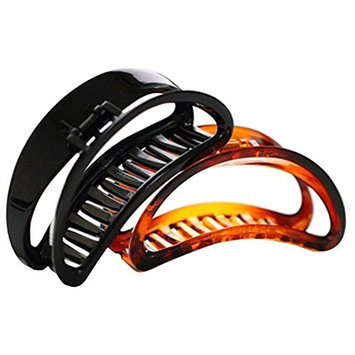 Suoirblss 2PCS Women and Girls Hair Barrettes For Thick Hair Large Chic Styling Hair Claw Clip Organic Glass Strong Holding Power Hair Clips Clamps Indoor Outdoor Hair Grip Hairpins Hairgrip