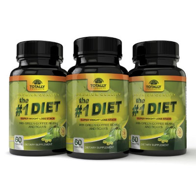 Totally Products The #1 Diet Complex with Garcinia Cambogia, Green Coffee Bean and BCAAs Super Weight Loss (180 Caplet) (Pack of 3)