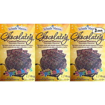 Yehuda Matzos Chocolatey Coated With Sprinkles