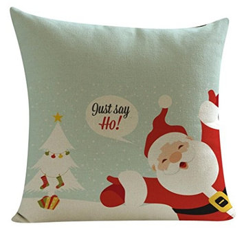 Christmas Elk Printing Dyeing Sofa Bed Home Decor Pillow Cover Cushion Cover