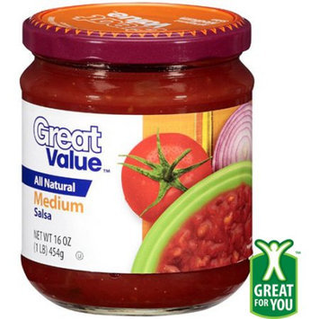 Great Value: Medium Salsa, 16 Oz