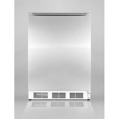 SUMMIT ADA compliant freestanding all-refrigerator with auto defrost, stainless steel door, and horizontal handle