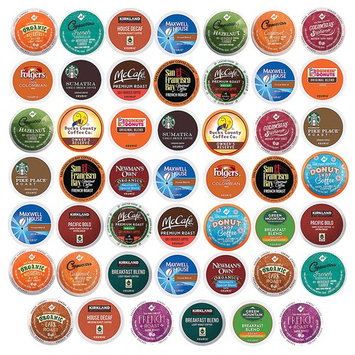 Coffee Pack Variety Sampler, Premium, Single Serve K Cups (48 Count)