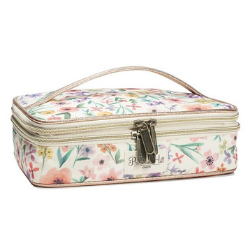 Primrose Hill Calico Canary Collection Cosmetic Double-Zip Train Case [Train Case]