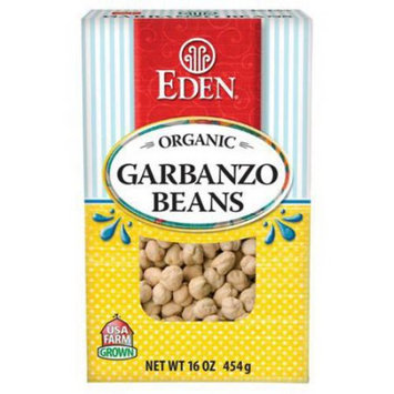 Eden Organic Eden Garbanzo Beans (chick peas), Organic - Dry, 16 Ounce (Pack of 6)