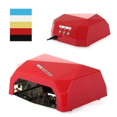 Besmall 18W Nail Gel Polish Dryer Nail Technician Female 18W LED CCFL Nail Lamp UV Adults Fast Safe Red