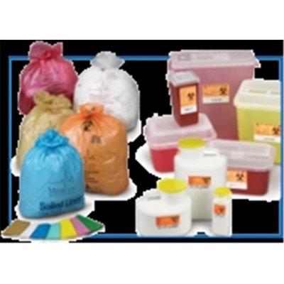 Medegen Medical MAI A510 12 x 9 x 6 in. Wall Hamper Dispenser Bag 1 gal - 6 per Case