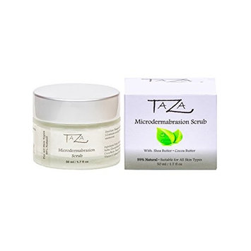 Premium Taza Natural Microdermabrasion Scrub, 50 ml (1.7 fl oz) ♦ Radiant Complexion ♦ With: Shea Butter, Coconut Oil, Grapeseed Oil, Almond Oil, Cocoa Butter