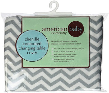 American Baby Company Heavenly Soft Chenille Fitted Contoured Changing Pad Cover - Gray Zigzag - 2 Pack