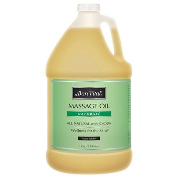 Bon Vital Naturale Massage Oil Made with Natural Ingredients for an Earth-Friendly & Relaxing Massage, Revives and Rehydrates Dry Skin Naturally, with Green Tea Extract for Added Skin Benefits, 1 Gal