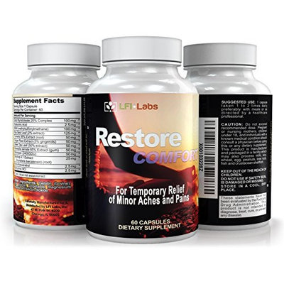 Restore Comfort Natural Pain Relief— Extreme Combination of the Most Powerful Natural Anti-Inflammatories Available to Support Strong Muscle and Joints. Supplement to Ease Minor Aches & Pains
