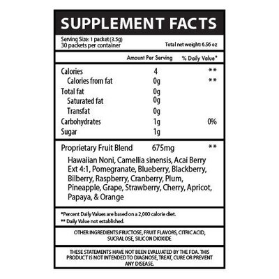 Noni to Go Sticks: Antioxidant Rich, Energy Supplement, Fights Inflammation and Boosts Immune System with Green Tea and Noni Powder - 60 Count