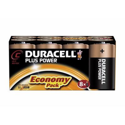 Duracell MN1400 Plus Power Alkaline C Size Batteries