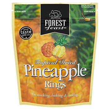 Forest Feast Tropical Dried Pineapple Rings (125g) - Pack of 2