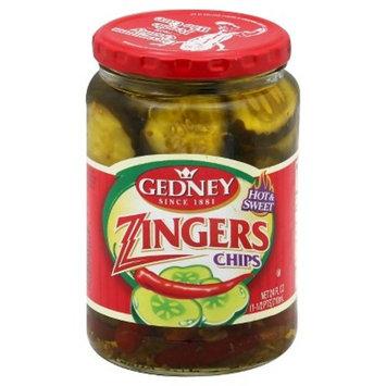 Gedney Pickles Hot & Sweet Zinger Chips - 24 fl oz